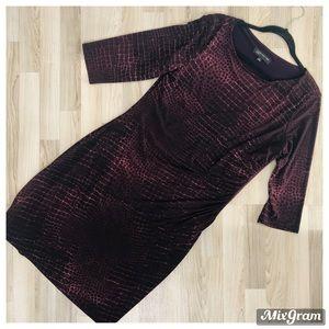 JONES NEW YORK Draped bodycone pencil style DRESS